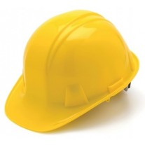 Pyramex HP16130 SL Series Hard Hat - Cap Style - Standard Shell 6 Pt Ratchet Suspension - Yellow