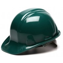 Pyramex HP16135 SL Series Hard Hat - Cap Style - Standard Shell 6 Pt Ratchet Suspension - Green