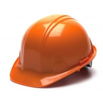 Pyramex SL Series Cap Style Hard Hat Standard Shell 6 Pt Ratchet Suspension, Orange, HP16140
