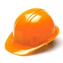Pyramex HP16141 SL Series Hard Hat - Cap Style - Standard Shell 6 Pt Ratchet Suspension - Hi Vis Orange