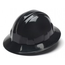 Pyramex HP24111 SL Series Hard Hat - Full Brim - 4Pt Ratchet Suspension - Black
