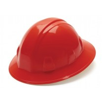 Pyramex HP24120 SL Series Hard Hat - Full Brim - 4Pt Ratchet Suspension - Red