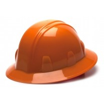 Pyramex HP24140 SL Series Hard Hat - Full Brim - 4Pt Ratchet Suspension - Orange