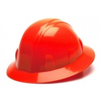 Pyramex HP24141 SL Series Hard Hat - Full Brim - 4Pt Ratchet Suspension - Hi Vis Orange