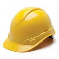 Pyramex HP44130 Ridgeline Hard Hat - Cap Style - 4 Pt Ratchet Suspension - Yellow