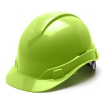 Pyramex HP46131 Ridgeline Hard Hat - Cap Style - 6 Pt Ratchet Suspension - Hi Vis Lime
