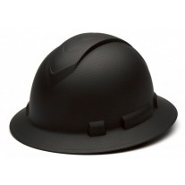 Pyramex Ridgeline HP54117 Black Graphite Pattern Hard Hat - Full Brim - 4Pt Ratchet Suspension