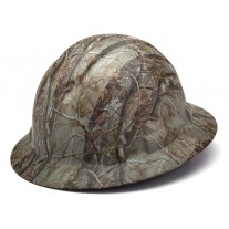Pyramex Ridgeline Realtree Camo Full Brim Hard Hat, 4Pt Ratchet Suspension