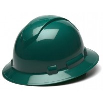 Pyramex HP54135 Ridgeline Hard Hat - Full Brim - 4Pt Ratchet Suspension - Green