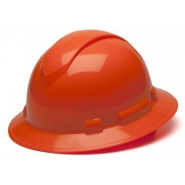 Pyramex HP54141 Ridgeline Hard Hat - Full Brim - 4Pt Ratchet Suspension - Hi Vis Orange