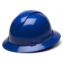 Pyramex Ridgeline Full Brim Hard Hat, 4Pt Ratchet Suspension, Blue, HP54160