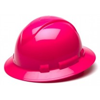 Pyramex HP54170 Ridgeline Hard Hat - Full Brim - 4Pt Ratchet Suspension - Hi Vis Pink