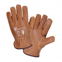 West Chester KS9911KP Oil Armor A4 Cut Resistant Leather Work Gloves - Fleece Lined - Pair