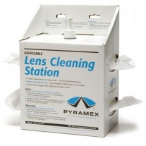 Pyramex Lens Cleaning Station w/16 oz Cleaning Solution/1200 tissues