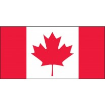"Canadian Flag Hard Hat Sticker, 1"" x 1-3/4"", 10/Pk"