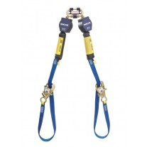 DBI-SALA 3101374 Nano-Lok Tie-Back Twin-Leg Quick Connect Self Retracting Lifeline, 9 ft