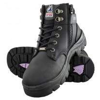 Steel Blue Parkes Zip Ladies TPU Work Boots, Steel Toe