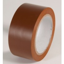 """Incom PST217 Safety Brown Aisle Tape - 2"""" x 108'"""