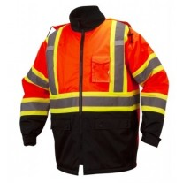 Pyramex RCP3220 Hi Vis Orange Black Bottom Parka - Class 3