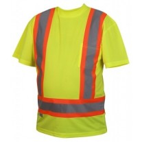 Pyramex RCTS2110 Hi Vis Yellow Safety Shirt - X Back - Type R - Class 2 - (CLEARANCE - LIMITED STOCK AVAILABLE)