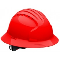 JSP Evolution Deluxe 6161 Full Brim Hard Hat, Non-Vented, Red (CLEARANCE)
