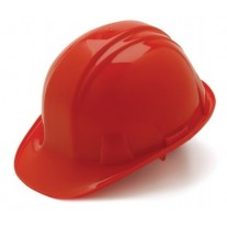 Pyramex HP14020 SL Series Hard Hat - Cap Style - 4 Point Snap Lock Suspension - Red