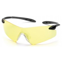 Pyramex Rotator SB7830S Safety Glasses - Amber Lens - Black Temples - (Closeout - Limited Stock)