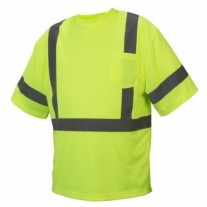 Pyramex RTS3310 Hi Vis Yellow Safety T-Shirt - Type R - Class 3 - Large - (CLOSEOUT - LIMITED STOCK AVAILABLE)