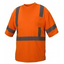 Pyramex RTS3320 Hi Vis Orange Safety T-Shirt - Type R - Class 3 - Large - (CLOSEOUT - LIMITED STOCK AVAILABLE)
