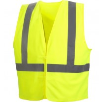 Pyramex RVHL2910 Hi Vis Yellow Economy Safety Vest - Solid - Type R - Class 2