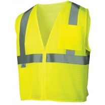Pyramex RVZ2110 Hi Vis Yellow Safety Vest - Type R - Class 2