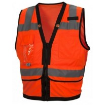 Pyramex RVZ2820 Hi Vis Orange Surveyor Safety Vest - Type R - Class 2