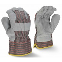 Radians RWG3103 Economy Shoulder Gray Split Cowhide Leather Glove - Dozen - Large (CLOSEOUT - LIMITED STOCK AVAILABLE)