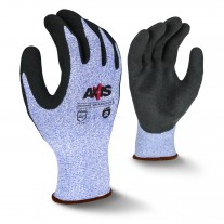 Radians RWG536 AXIS - Micro Sandy Foam Latex Coated ANSI A2 Cut Resistant Glove - Dozen - Large - (CLOSEOUT - LIMITED STOCK AVAILABLE)