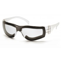 Pyramex Intruder S4110STFP Safety Glasses - Clear Frame w/ Full Foam Padding  Clear-Hardcoated Anti-Fog Lens