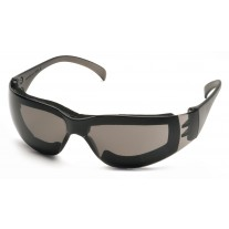 Pyramex Intruder S4120STFP Safety Glasses - Gray Frame w/ Full Foam Padding - Gray-Hardcoated Anti-Fog Lens