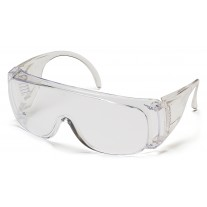 Pyramex S510SD Solo Safety Glasses - Dispenser Packaging Includes 12 Individually Wrapped Clear Lens Glasses