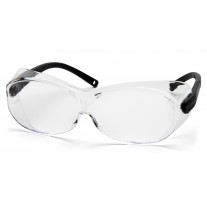 Pyramex S7510SJ OTS XL Safety Glasses - Black Temples - Clear Lens