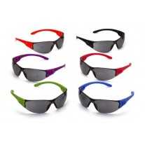 Pyramex S9520SMP Trulock Safety Glasses - Multi-Colored Temples - Gray Lens - Multi Pack 12 Pairs