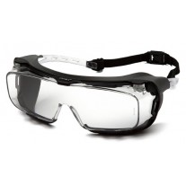 Pyramex Cappture S9910STMRG Safety Glasses - Clear Frame w/ Rubber Gasket - Clear H2MAX Anti-Fog Lens