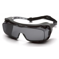 Pyramex Cappture S9920STMRG Safety Glasses - Gray Frame w/ Rubber Gasket - Gray H2MAX Anti-Fog Lens