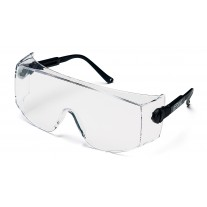 Pyramex Defiant SB1010SJ Safety Glasses - Black Frame - Jumbo - Clear Lens - Over Prescription