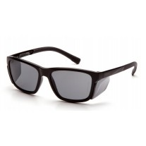 Pyramex SB10720D Conaire Safety Glasses - Black Frame - Gray Lens - W/ Removable Side Shields