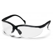 Pyramex Venture II Safety Glasses, Black Frame, Clear Lens