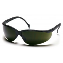 Pyramex Venture II Safety Glasses, Black Frame, 5.0 IR Filter Lens
