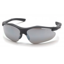 Pyramex SB3770D Fortress Safety Glasses Black  Frame Silver Mirror Lens  (CLOSEOUT - LIMITED AVAILABILITY)