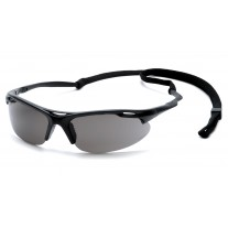 Pyramex SB4520DP Avanté Safety Glasses - Black Frame - Gray Lens with Cord - (Closeout - Limited Stock)