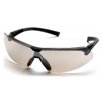Pyramex SB4980S Onix Safety Glasses - Black Frame - Indoor/Outdoor Mirror Lens - (CLOSEOUT)