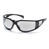 Pyramex SB5110DT Exeter Safety Glasses Glossy Black Frame Clear Anti-Fog Lens