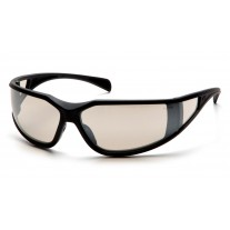 Pyramex SB5180DT Exeter Safety - Glasses Glossy Black Frame - Indoor/Outdoor Mirror Anti-Fog Lens